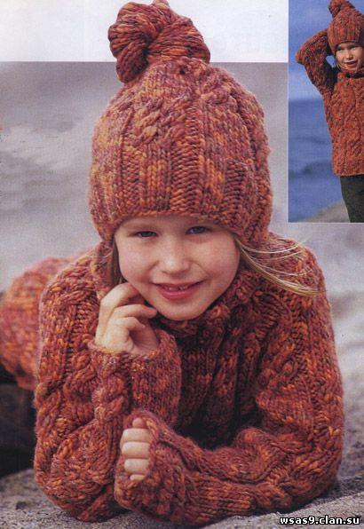 Объемный свитер схемы и описание